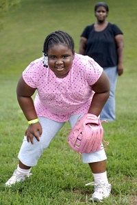 Overweight Black Kids African America...