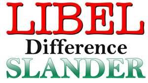 libel and slander