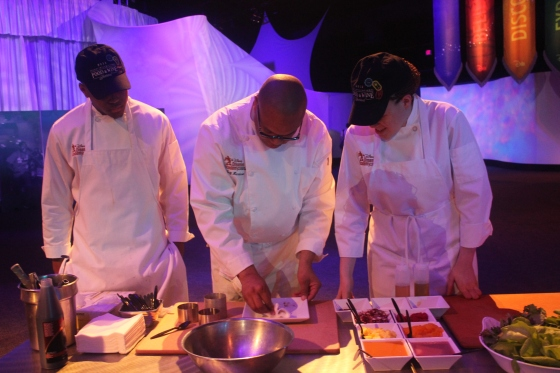 Chef Jeff Henderson and students (photo credit Penny Dickerson)