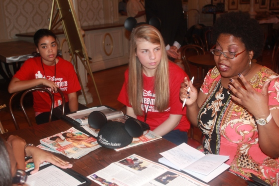 Essence Magazine Sr. Editor Tanisha Sykes leads students during workshopk (photo credit Penny Dickerson)