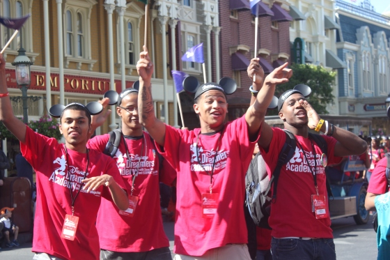 Male students at opening parade (Photo Credit Penny Dickerson)