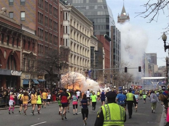 Boston Marathon Street Scene