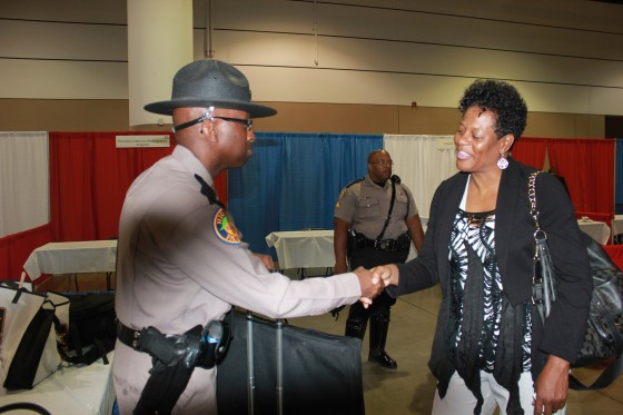 Councilwoman at Job Fair