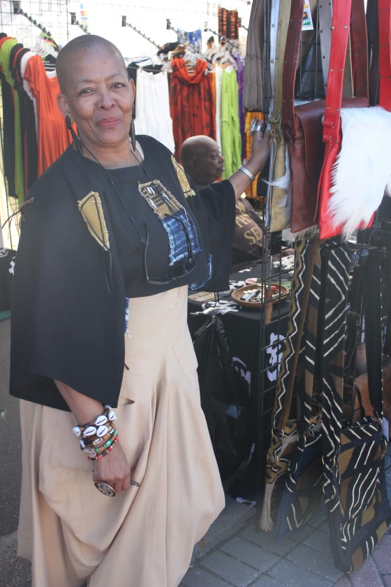 African Apparel Vendor on ZORA's Festival Row