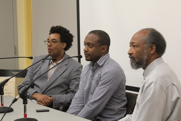 Panel on black male issues at Question Bridge gallery talk
