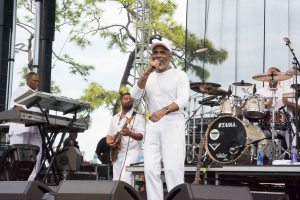Frankie Beverly and Maze entertained a field of fans for Saturday's concert