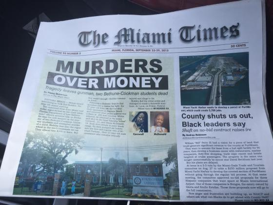 Miami Times Front Page