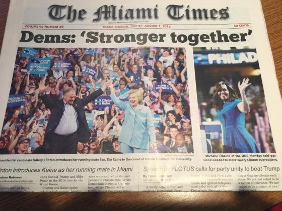 Miami Times Front Fold