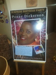 Penny Dickerson in hospital birthday party