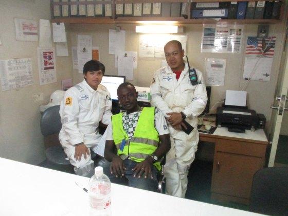 Ambassa in control room